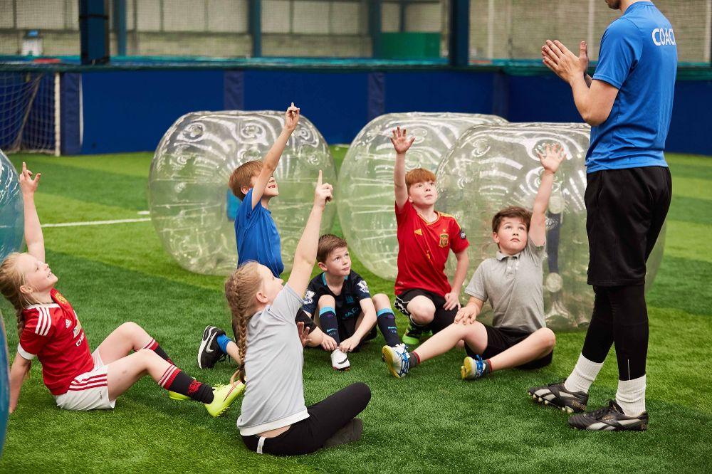 kid birthday bubble football